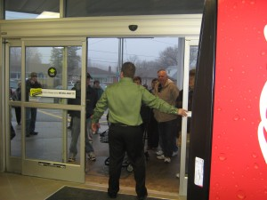 Store Door opens