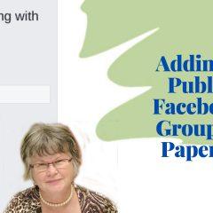 adding public facebook group