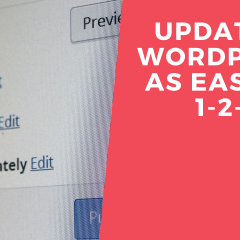 Updating Wordpress as easy as 1-2-3