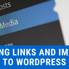 adding links and images wordpress