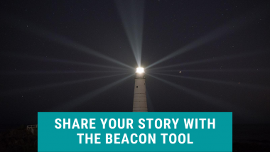 share your story with the beacon tool